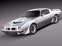 3d model pontiac firebird trans sport