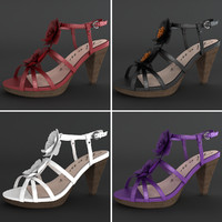 realistic heel female shoes 3d model