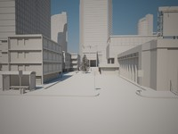buildings street 3d 3ds