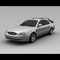 3d taurus 2001 wagon model