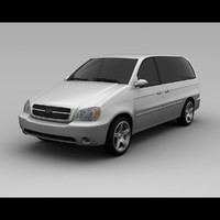 3d kia sedona 2005 van model