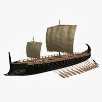 historical greek heptere 3d model