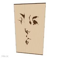 3dsmax wooden intarsia kiss