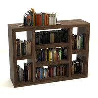 3d model bookcase books