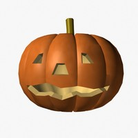 3ds halloween pumpkin