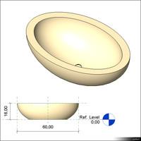 oval basin 3d model