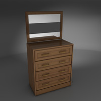 free commode bureau 3d model