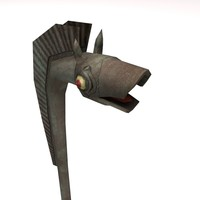 free ancient brythonic trumpet 3d model