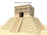 mesoamerican pyramids american 3d model