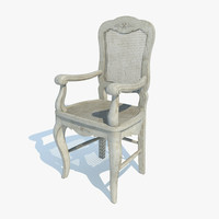 country corner chair 3d model