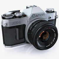 retro photo camera canon 3d max