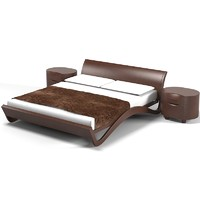 3d contemporary double bed