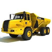 john deere articulated dump truck 3d max