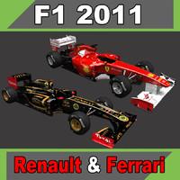 3d model 2011 ferrari f150 renault