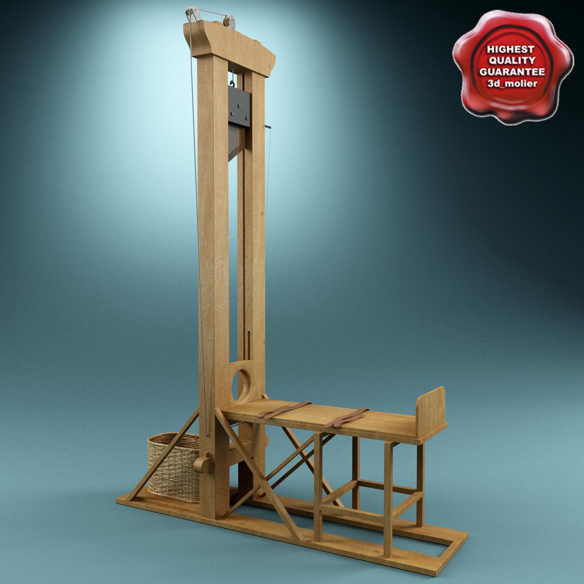 3d model guillotine v2. Black Bedroom Furniture Sets. Home Design Ideas