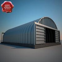 hangar v6 3d obj