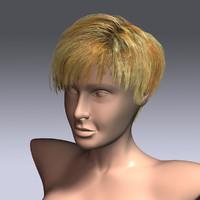 hair virtual 3d max