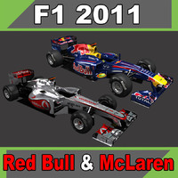 Mclaren MP4-26 and Red Bull RB7