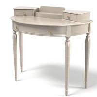 3d makup table vanity model