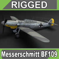 bf-109 plane ww2 3d model