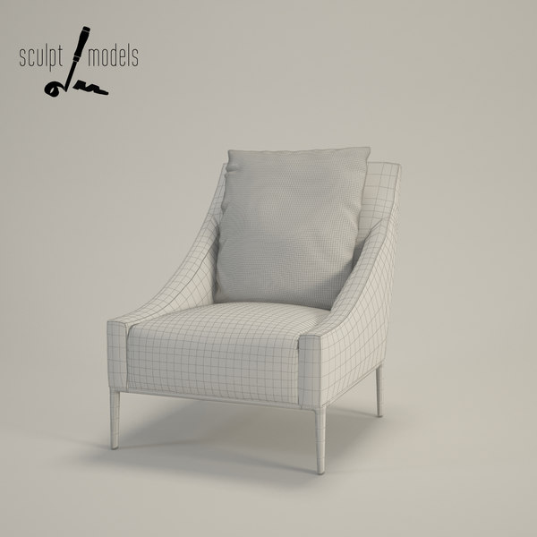 3ds max jean armchair - Jean Armchair... by SculptModels
