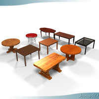 3d kitchen tables