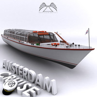 amsterdam cruise boat 3d model