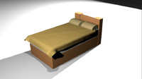tan bed 3ds free