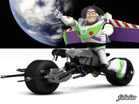3d buzz lightyear batpod toy model