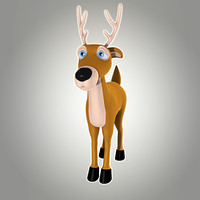 cool cartoon christmas deer max