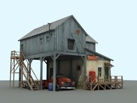 old farm chevrolet 3d obj