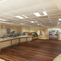 hospital food court 3d max