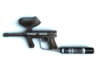 Low poly paintball gun