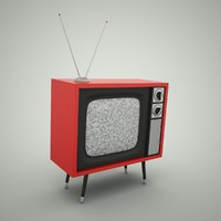 3d retro tv set model