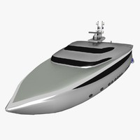 Yacht Silver Low Poly