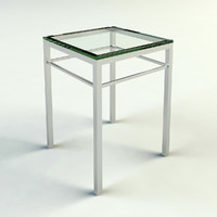3d chrome glass end table