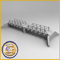 bridge wood wooden 3d max