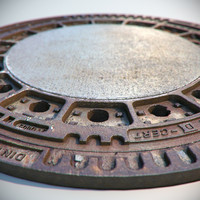3d max metal rusty sewer lid