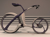 3d bicycle futuristic design model