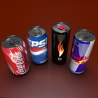 canned cola drink 3d model