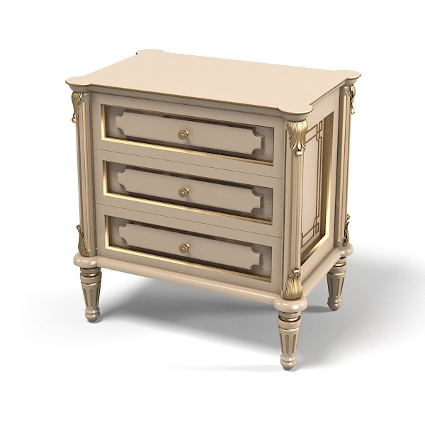 Ezio Bellotti Classic Nightstand 3002 chest of drawers commode traditional baroque carved.jpg