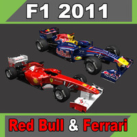 2011 ferrari f150 red bull 3d 3ds
