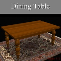 maya wood dining table