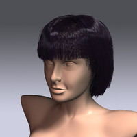 3d hair virtual model