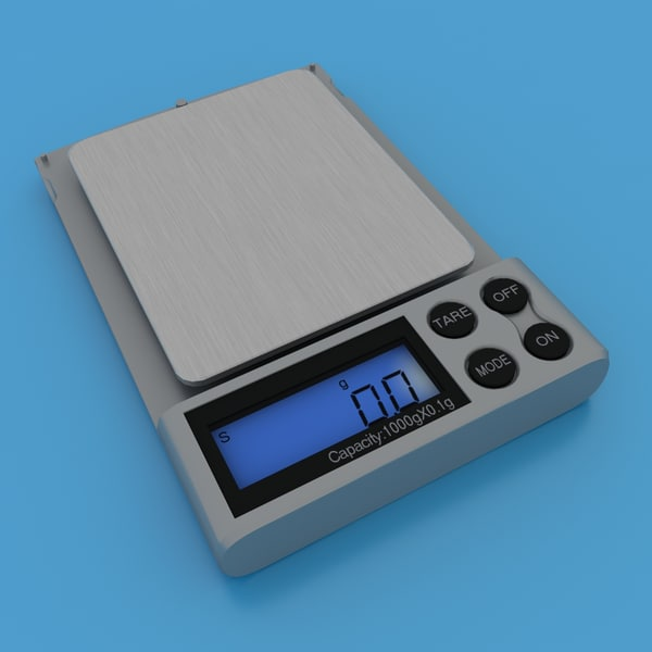 3d model of jewelry scales v2 - Jewelry Scales V2... by 3d_molier