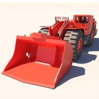 3d model sandvik underground loader toro