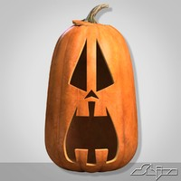 3d model pumpkin head scared 3