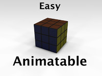 "Rubik""s Cube Easy Animatable"