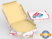 3d model domino pizza box