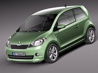 3d model skoda citigo citi car
